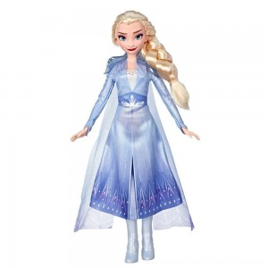 Black Friday Sale Disney Frozen 2 Elsa Fashion Doll With Long Blonde Hair and Blue Outfit
