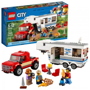 LEGO City Great Vehicles Pickup & Caravan 60182 - SALE