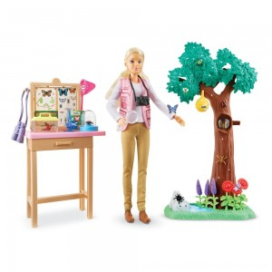 Black Friday Sale Barbie National Geographic Butterfly Scientist Playset